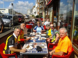 Cyclists at The Italian Way in Bexhill