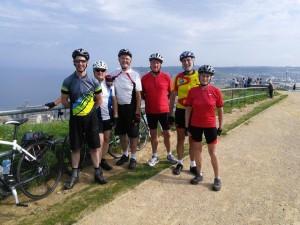 Cyclists near Le Treport