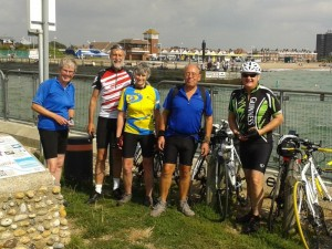 Cyclists at Littlehampton