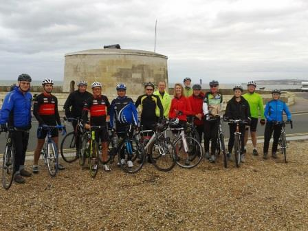 Start of rides to Chilley Farm Cafe
