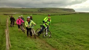 The final climb up Exceat - NCN(2)