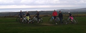 Up on the Downs, overlooking Newhaven and Seaford
