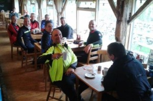 Cyclists at Lakeside Cafe