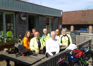 Cyclists at Chiddingly Village Shop & Cafe