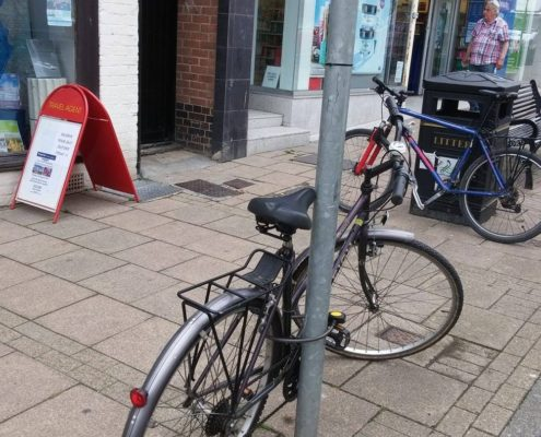 No cycle parking.
